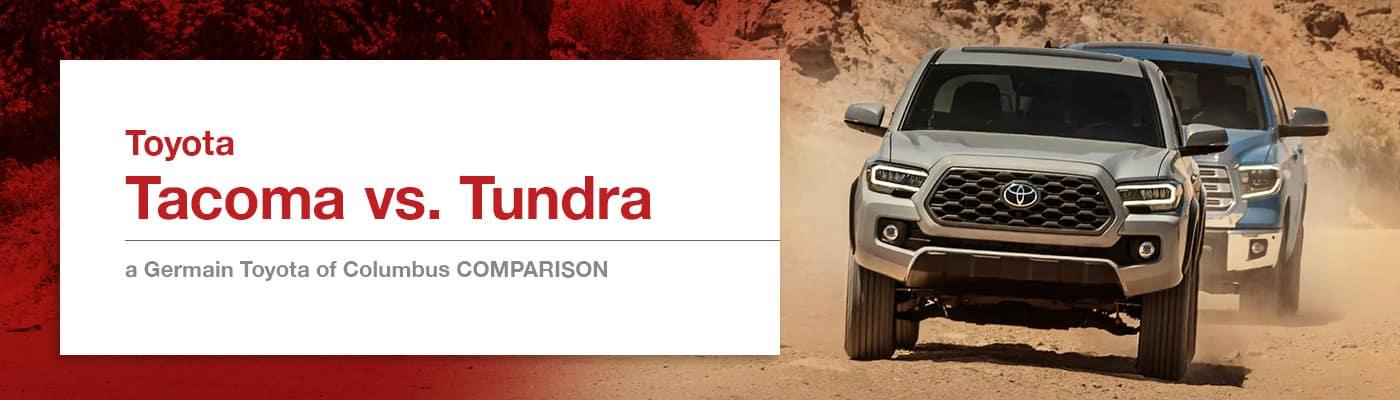 Tacoma vs Tundra Comparison at Germain Toyota of Columbus
