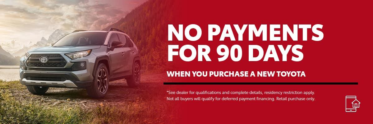 90 Days No-Payment at Germain Toyota of Columbus