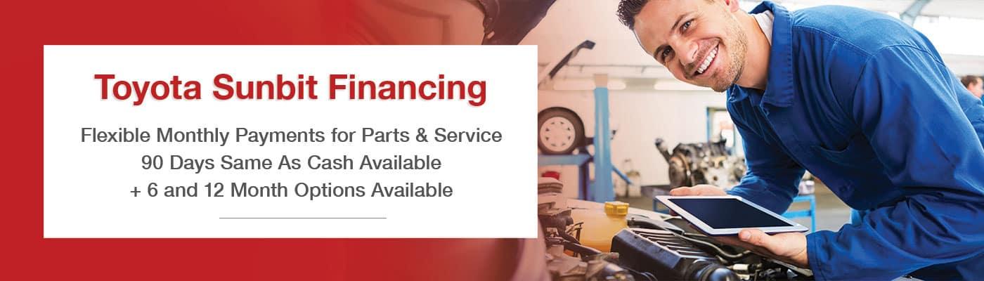 Toyota Sunbit Financing