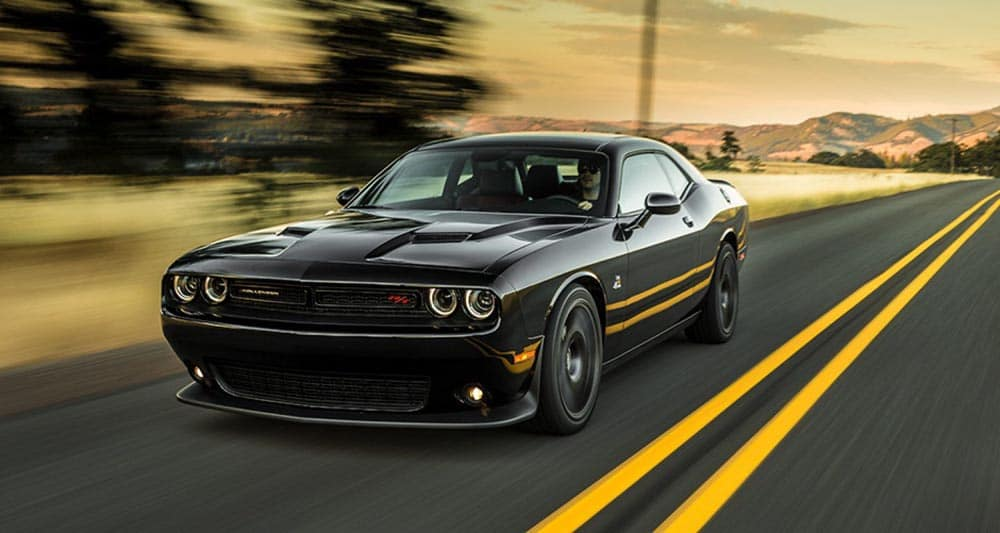 Black 2018 Dodge Challenger on the highway