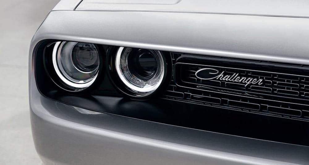 2018 Dodge Challenger headlights and grille