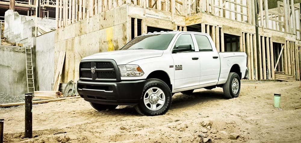 2018 Ram 2500 on construction site
