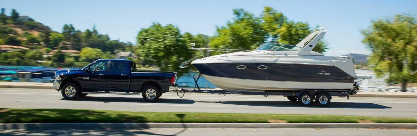 2019 Ram 3500 Big Horn towing a boat