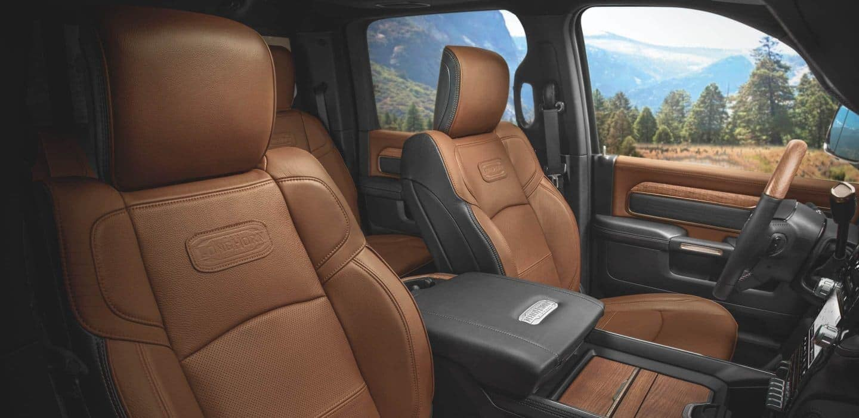 2020 RAM 2500 interior in leather