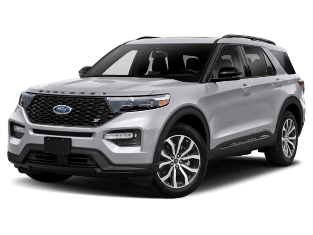 2020 Ford Explorer in silver