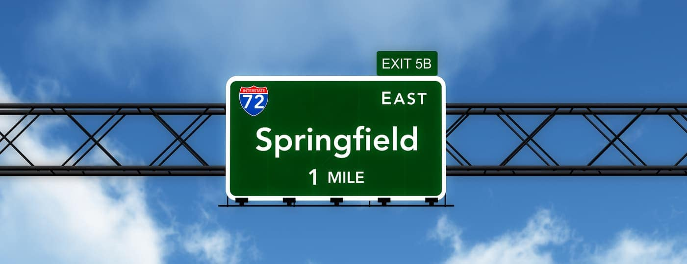 springfield il interstate sign