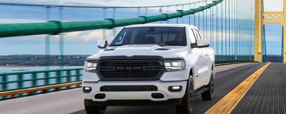 2020 RAM 1500 Night Edition on bridge