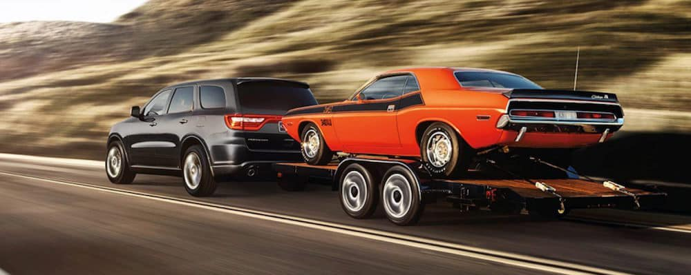 2020 Dodge Durango towing classic car