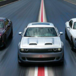Dodge Challenger SRT Hellcat models racing