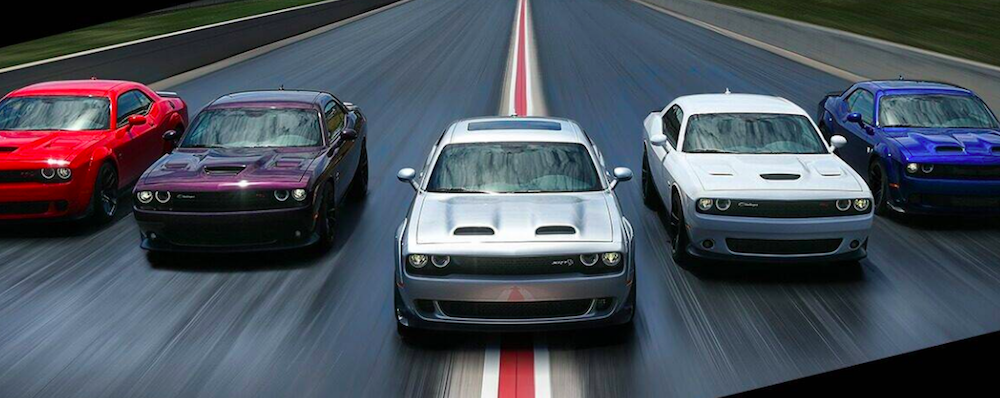 Dodge Challenger SRT Hellcat models racing