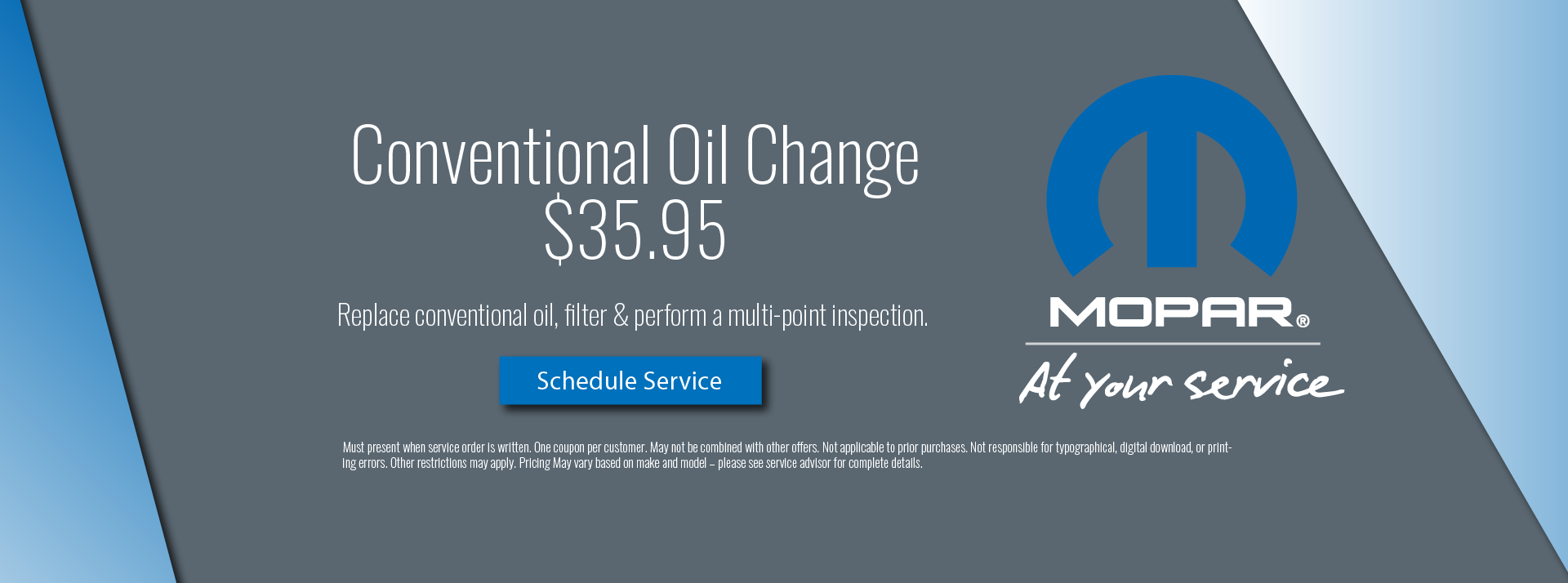 conventional oil change