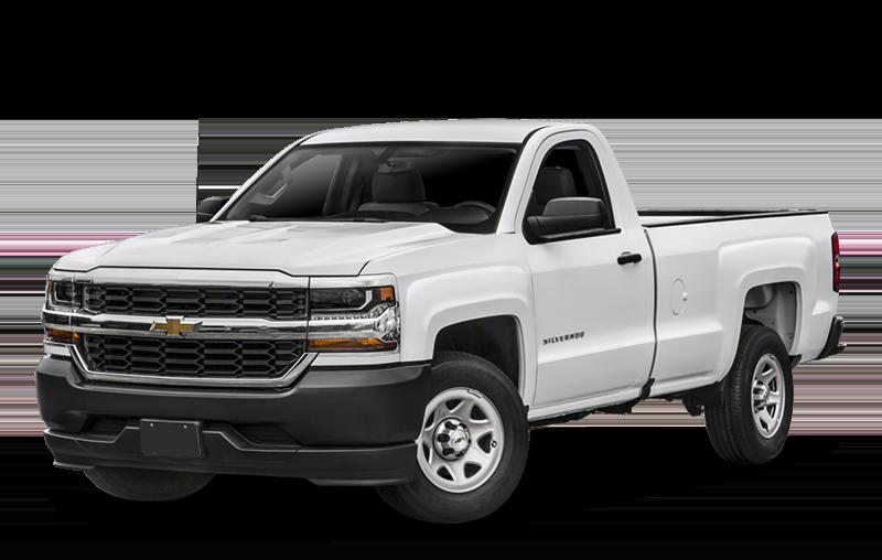 White Chevy Silverado