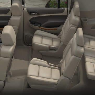 Suburban interior with 3 row seating