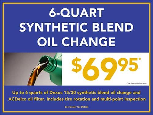 6 Qt. Synthetic Blend Oil Change