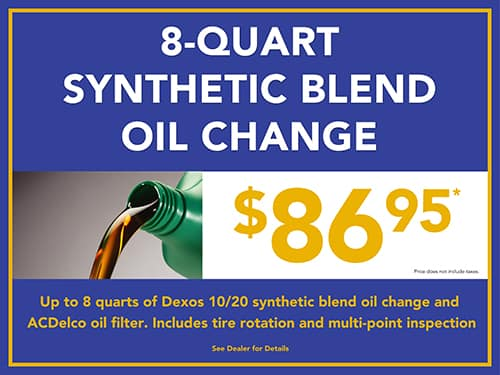 8 Qt. Synthetic Blend Oil Change