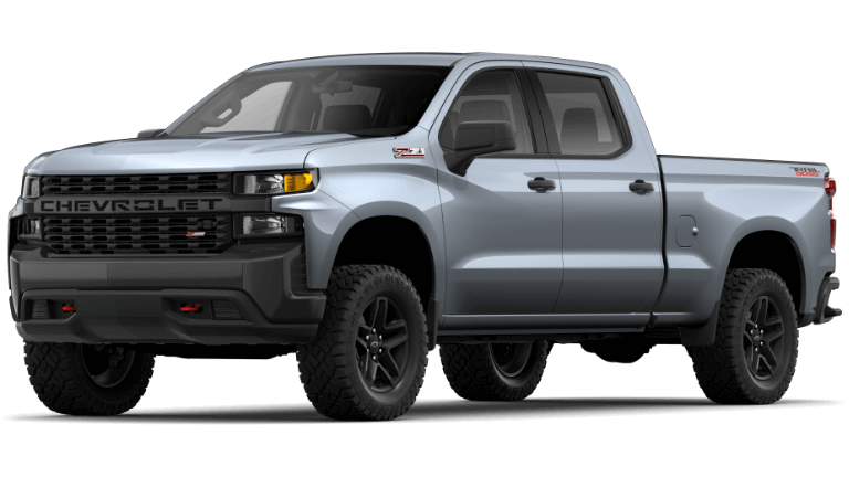 Satin Steel 2020 Chevy Silverado 1500 Custom Trail Boss