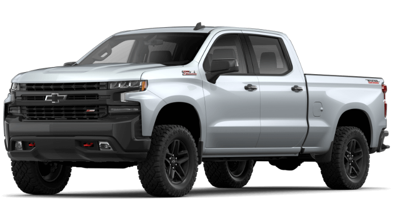 Silver Ice 2020 Chevy Silverado 1500 LT Trail Boss