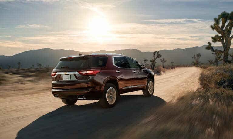 2020 Chevy Traverse driving in the desert