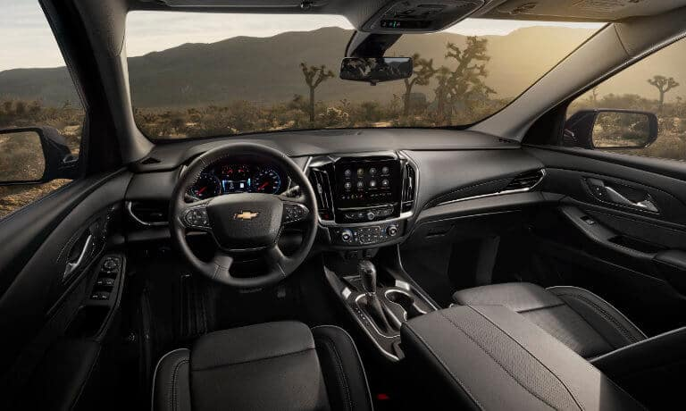 2020 Chevy Traverse Interior front seats