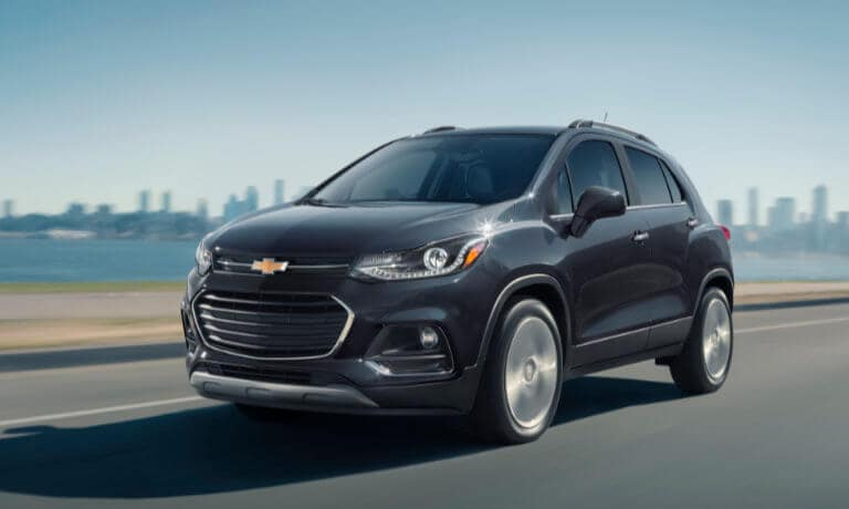 2020 Chevrolet Trax driving on the highway outside the city