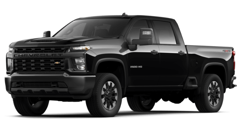 2021 Chevy Silverado Custom in Black