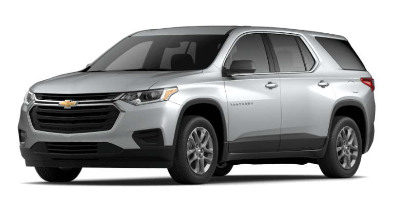 2021 Chevy Traverse LS in Silver Ice