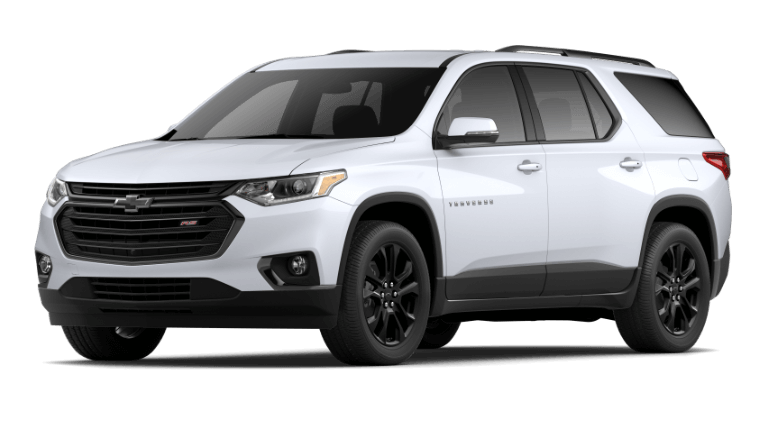 2021 Chevy Traverse RS in Summit White