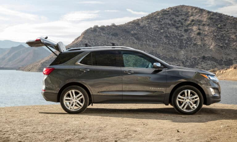 2021 Chevy Equinox with the trunk open
