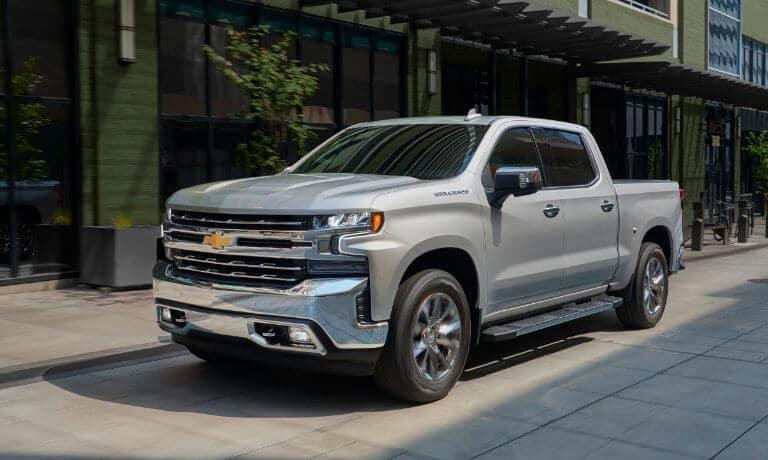 2021 Chevy Silverado parked outside