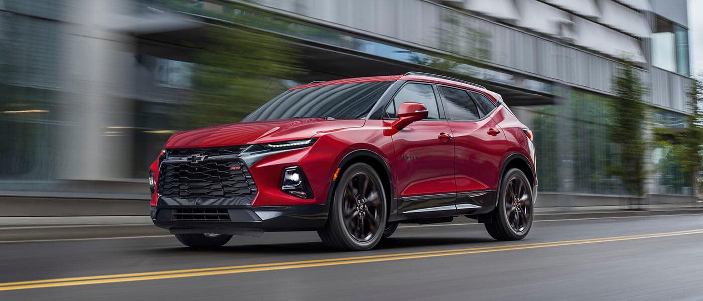 2021 Chevy Blazer driving exterior view