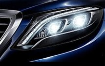 headlights of mercedes-benz