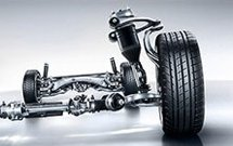 exposed suspension of mercedes-benz