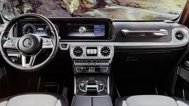 interior shot of center console