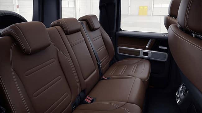 interior shot of seats