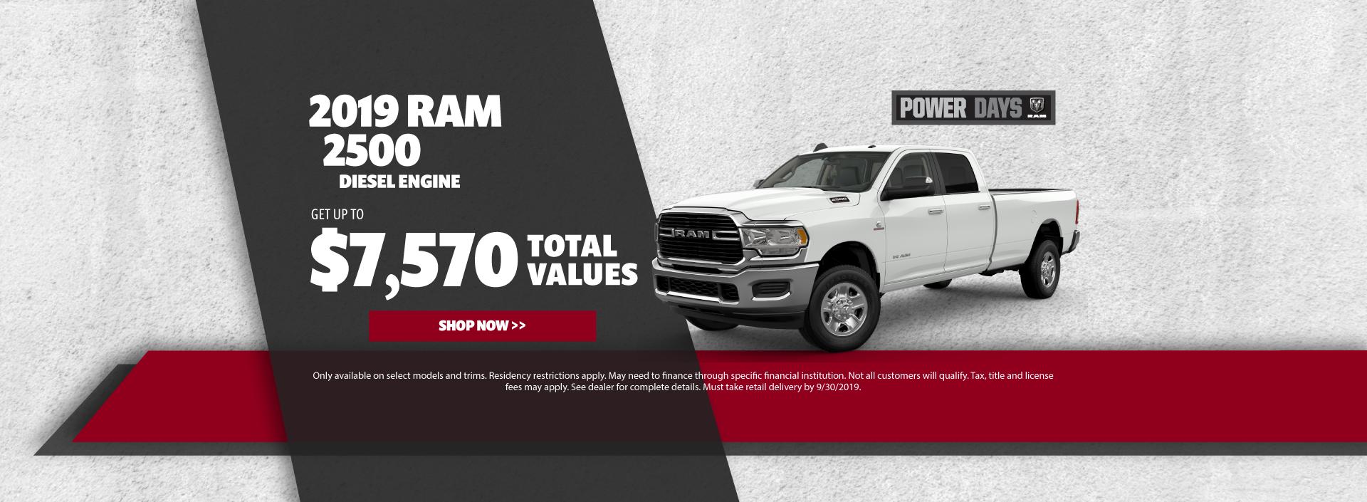 2019 Ram 2500 Cash Offer