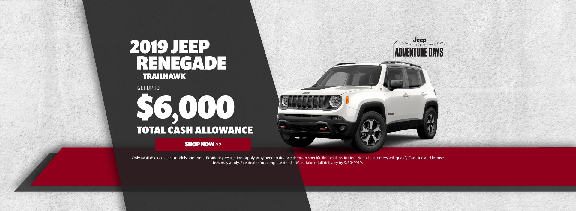 2019 Jeep Renegade Cash Offer
