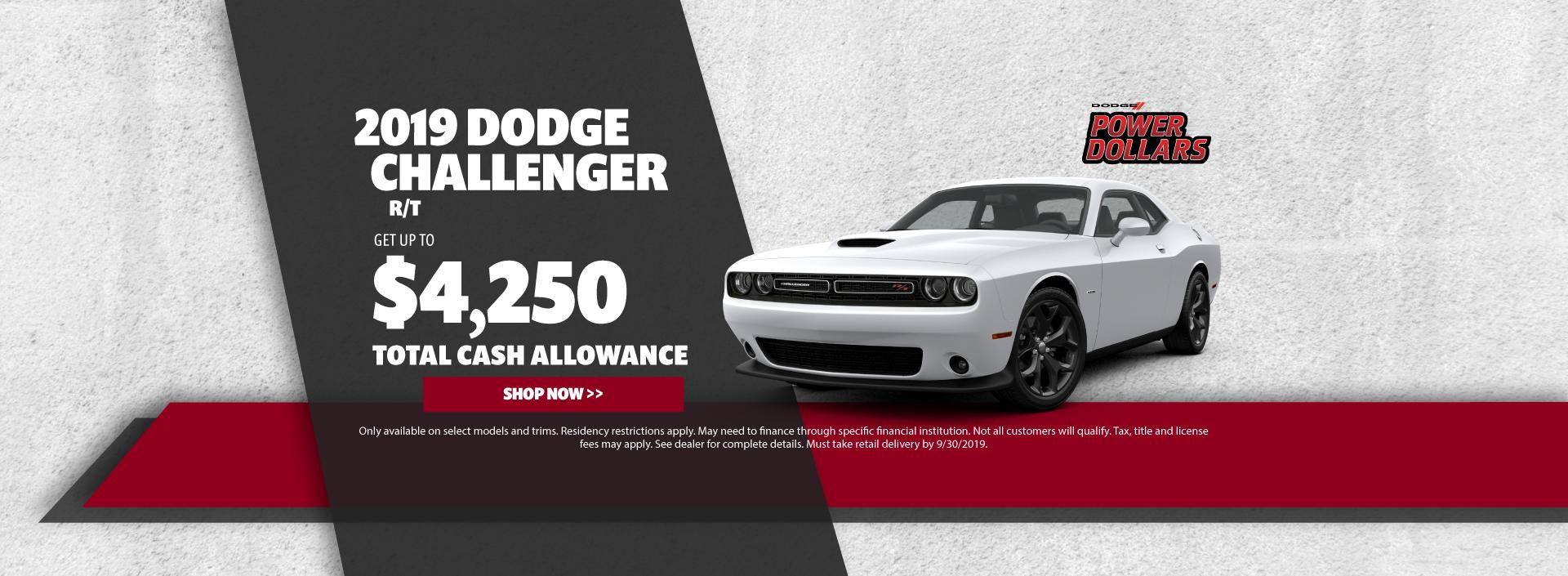 2019 Dodge Challenger Cash Offer