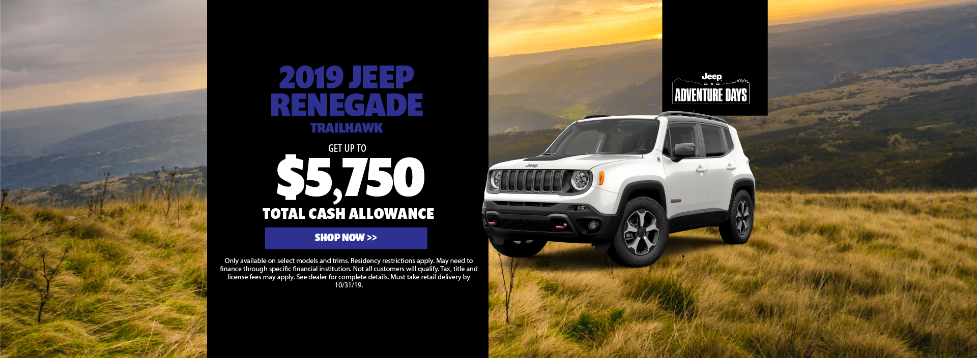 2019 Jeep Renegade Cash Offer