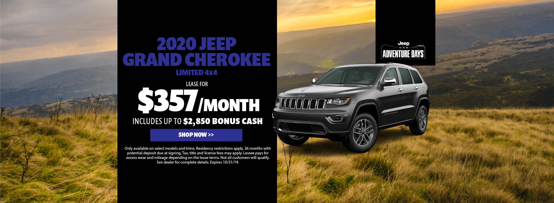 2020 Jeep Grand Cherokee Lease Offer