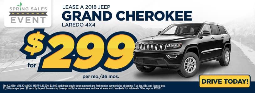 Grand Cherokee Deal Banner