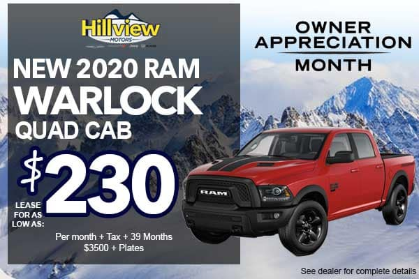 NEW 2020 RAM 1500 CLASSIC WARLOCK QUAD CAB
