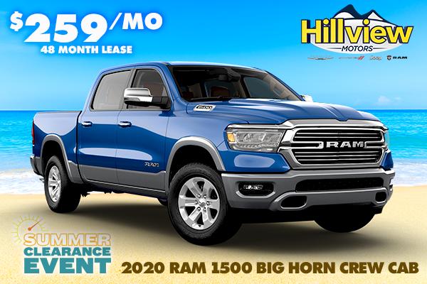 NEW 2020 RAM 1500 BIG HORN CREW CAB 4X4