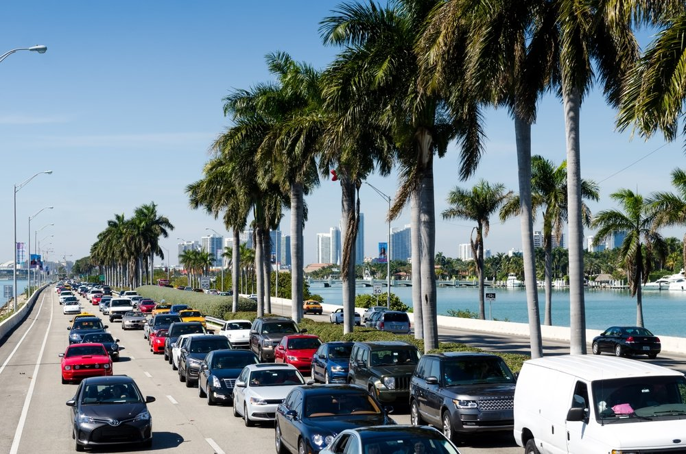 Miami City Morning Traffic