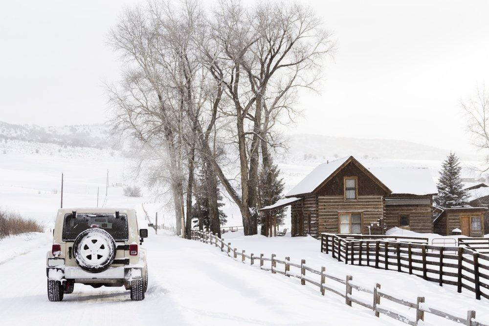 Winter-farm Steamboat Springs Colorado