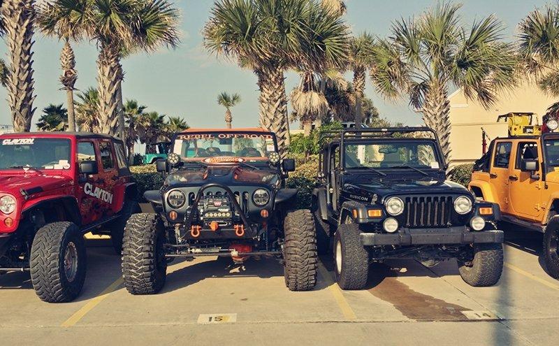 Jeeps on the beach Florida