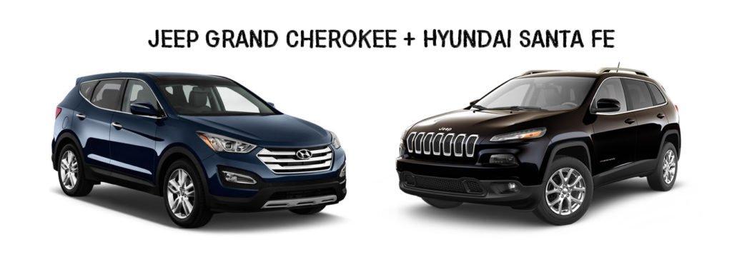 Jeep Grand Cherokee and Hyundai Santa Fe