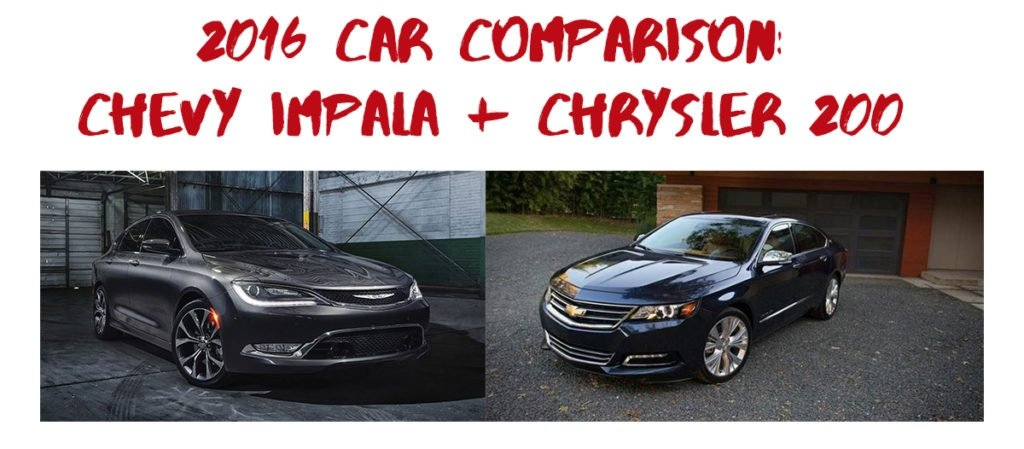 Comparison Chrysler and Chevy