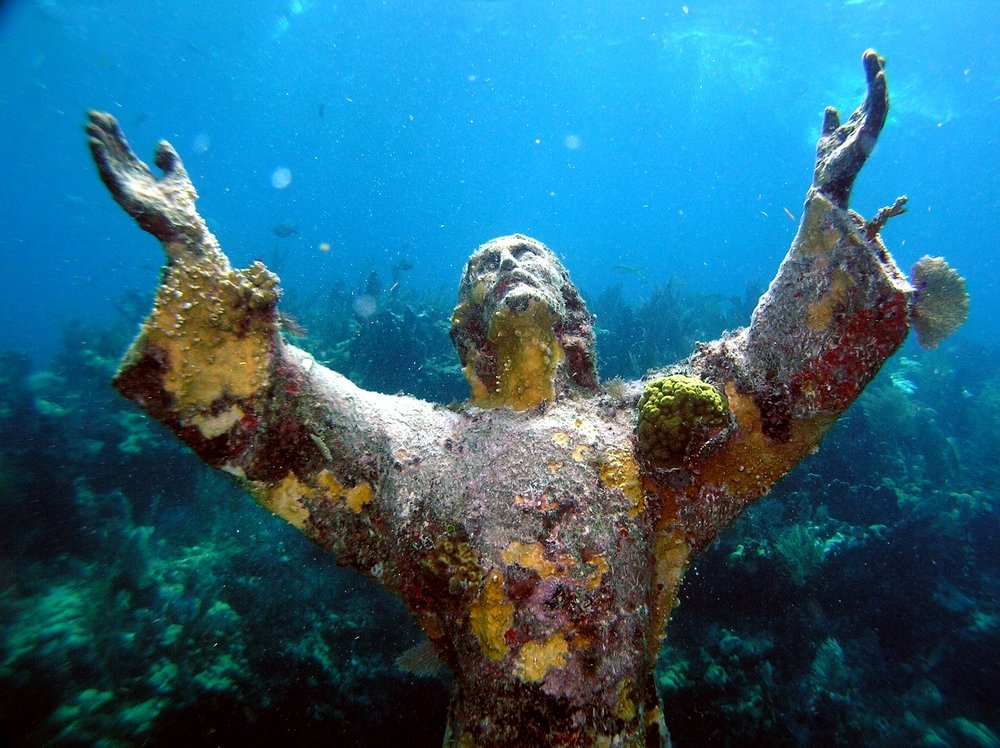 Underwater Jesus Statue Key Largo