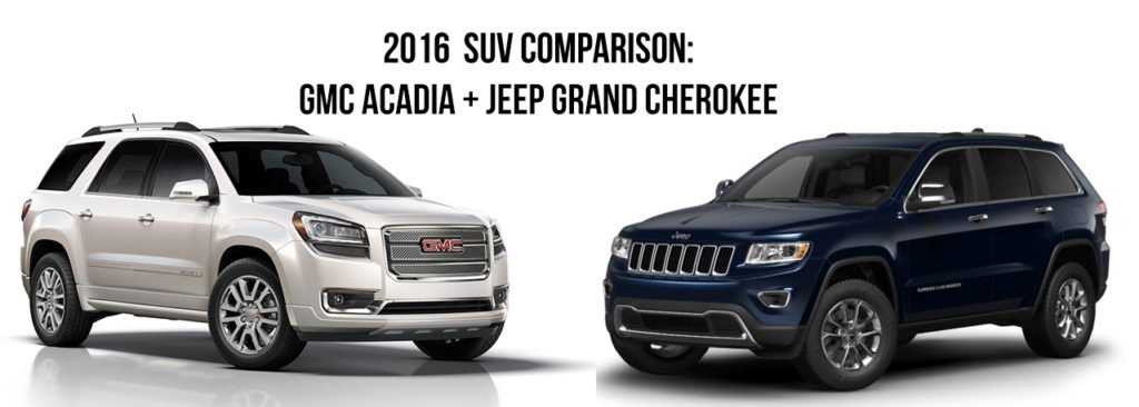 SUV comparison Jeep and GMC