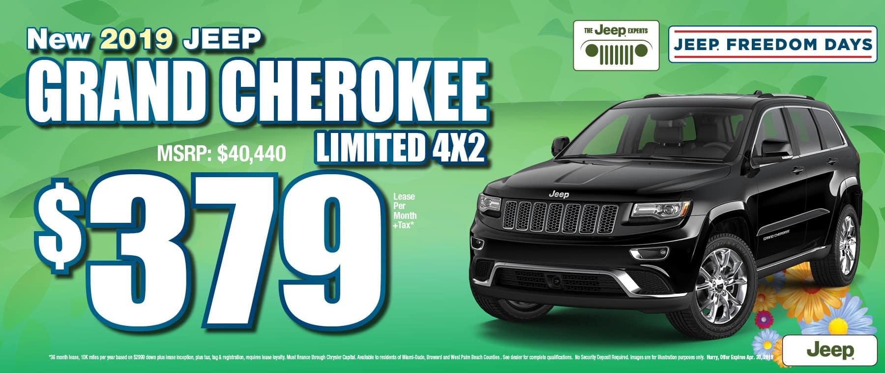 Grand Cherokee $379 Lease